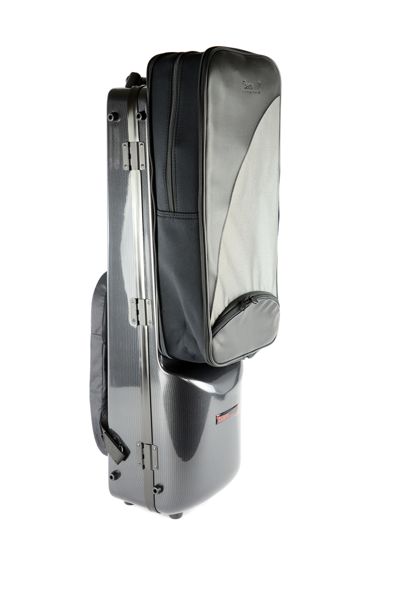 BAM Gig Bag Klarinet Bas (tot C) + Klarinet Bb/A Hightech Black Carbon Look 3126XLC