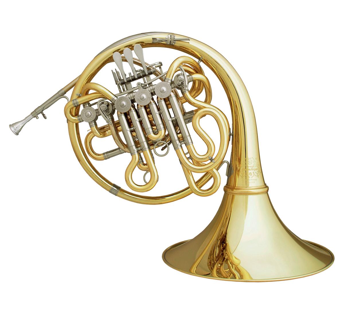 Hans Hoyer F/Bb/High Eb Triple Hoorn C1-L - Uitvoering: Goudlak