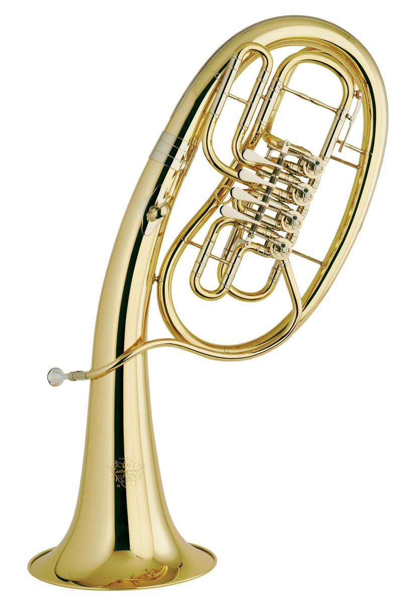 Hans Hoyer Wagner Tuba in Bb 822-L - Uitvoering: Goudlak