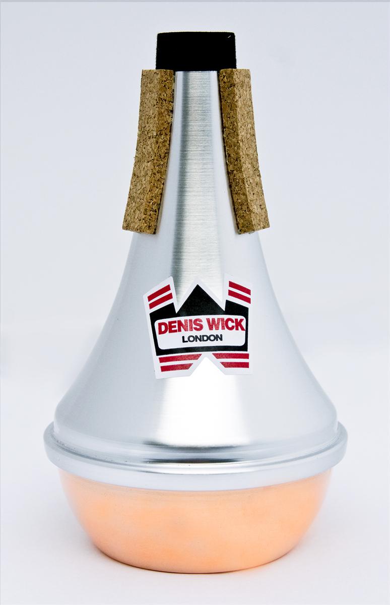 Denis Wick Straight Mute Cornet/Trompet  Aluminium en Copper Bottom