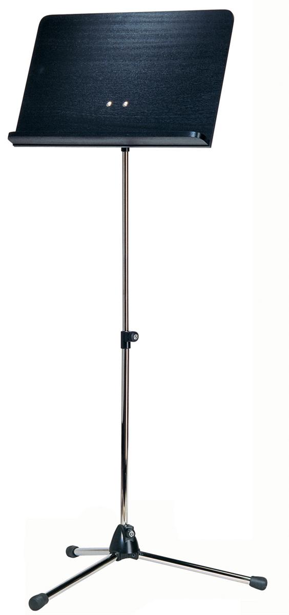 K&M 11812-000-01 Vast Blad Nikkel met Zwart houten Blad