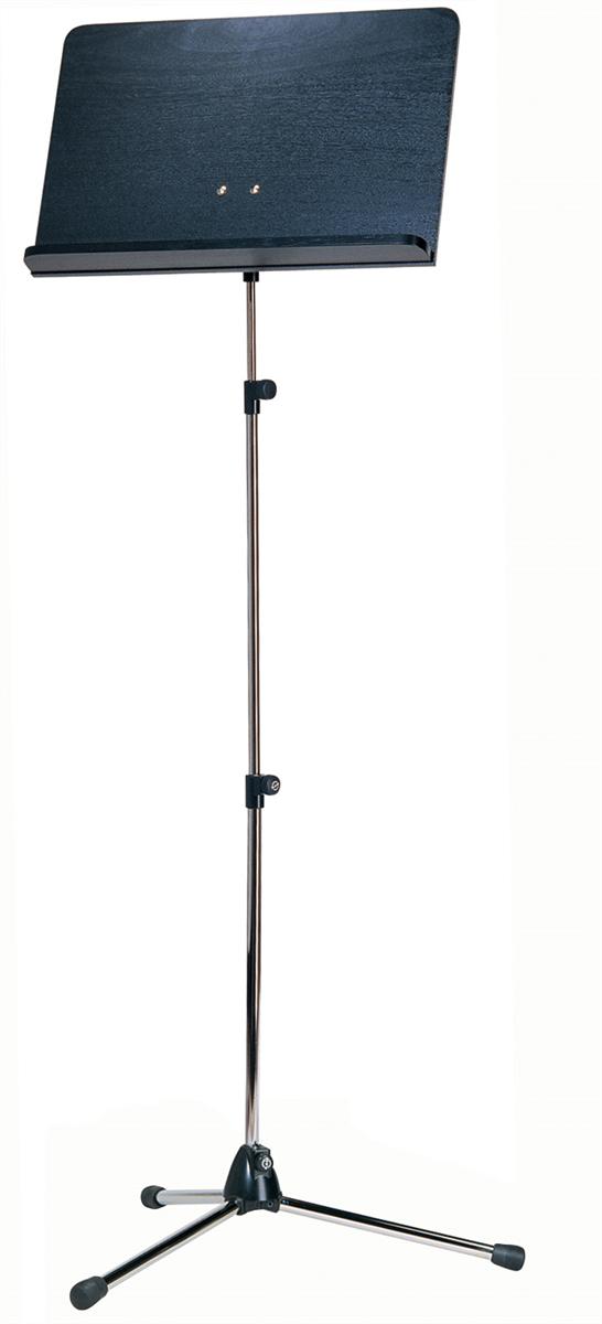 K&M 11842-000-01 Vast Blad Nikkel met Zwart houten Blad