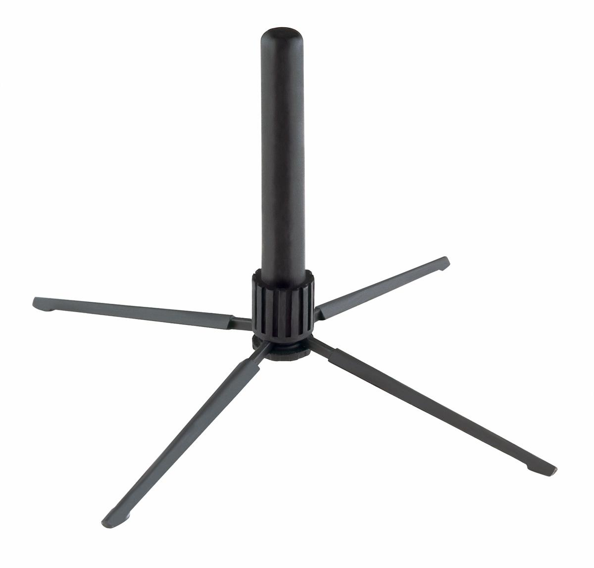K&M 15232-000-55 Fluit Stand Inklapbaar Zwart
