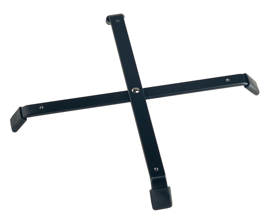 K&M 17710-005-55 Accessoires Kruisvoet Groot Zwart