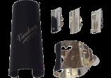 Vandoren Ligatuur + Plastic Beschermkap OPTIMUM voor Sopraan Saxofoon - Zilver
