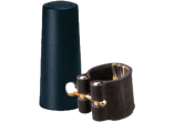 Vandoren Ligatuur + Plastic Beschermkap LEER voor Sopraan Saxofoon