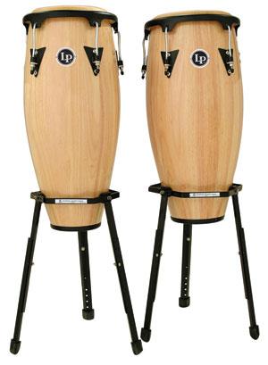 LPA646BAW Latin Percussion 'Congaset 10''/11''' + stand