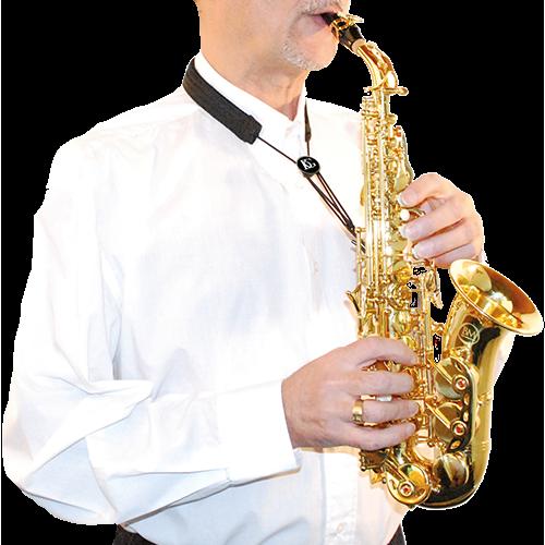 BG France Draagriem Saxofoon Gebogen Soprano Nylon S85-SH Kunststof Snaphook