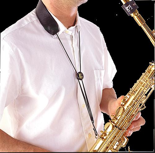 BG France Draagriem Saxofoon Alto/Tenor Leer S20-M Metalen Haak