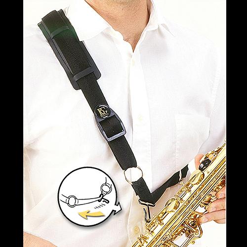 BG France Draagriem Saxofoon Alto/Tenor/Bariton Schouder S03-M Metalen Haak