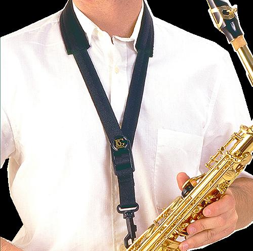 BG France Draagriem Saxofoon Tenor/Bariton Comfort S13-M Metalen Haak