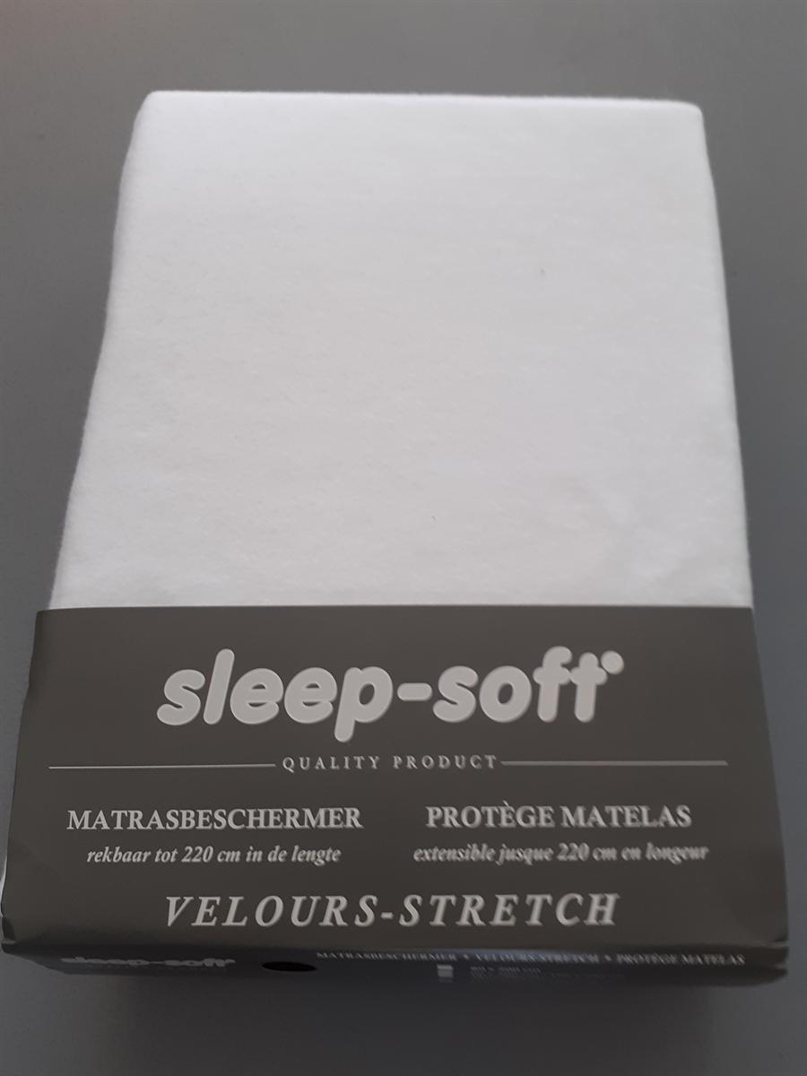MATRASBESCHERMER - SCHLAFGUT - MOLTON - WIT