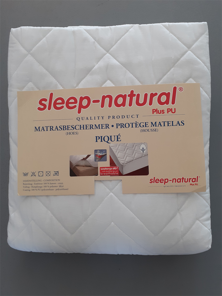 MATRASBESCHERMER - CARALYS - SLEEP  NATURAL - WIT