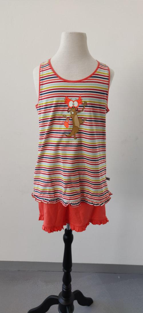 PYJAMA KIDS - WOODY - 191-1-PSP-S/946 - multicolor Stokstaartje gestreept