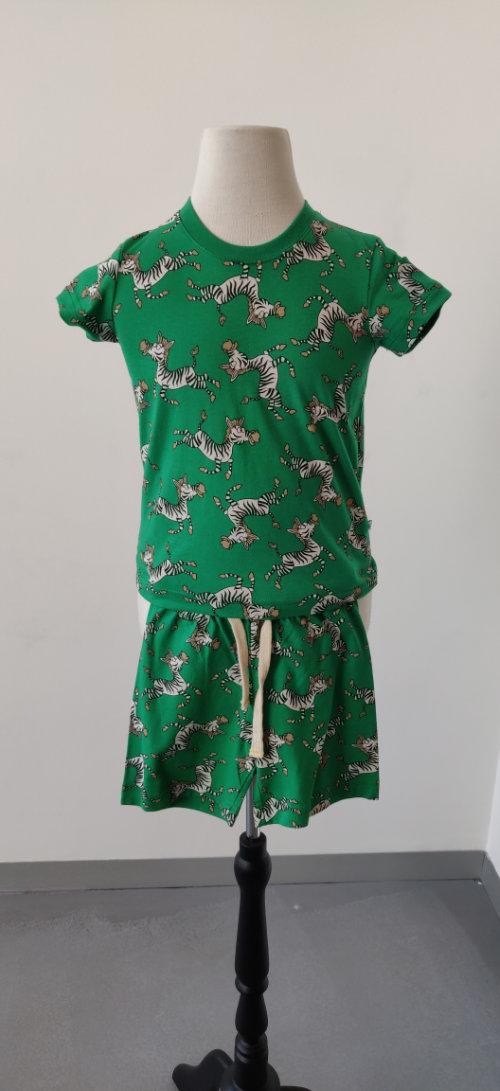 PYJAMA KIDS - WOODY - 191-1-PSS-S/975 - zebra groen all-over print