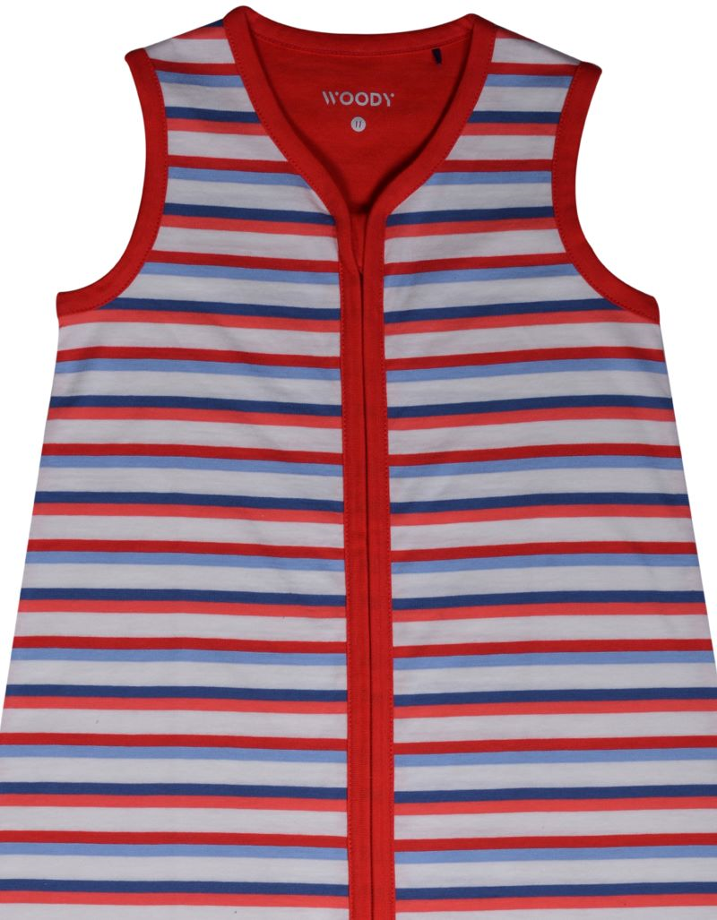SLAAPZAK KIDS - WOODY - 201-1-SLN-S/914 - rood-blauw gestreept