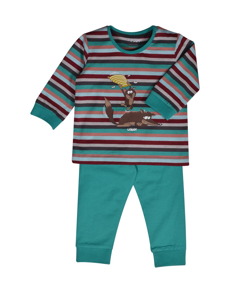 PYJAMA KIDS - LITTLE WOODY - 202-3-PLC-S/975 - multicolor gestreept