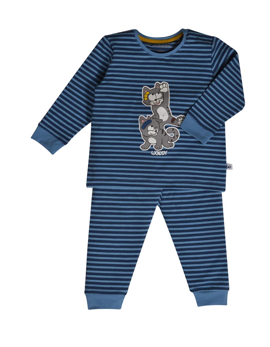 PYJAMA KIDS - LITTLE WOODY - 202-3-PZL-Z/988 - donkerblauw-blauw gestreept