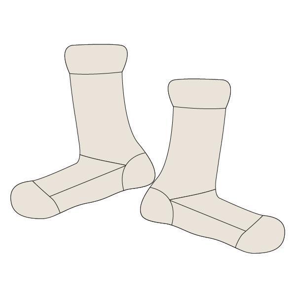BEDSOKKEN - LORDS X LILIES - 202-5-LEA-H/106 - gebroken wit