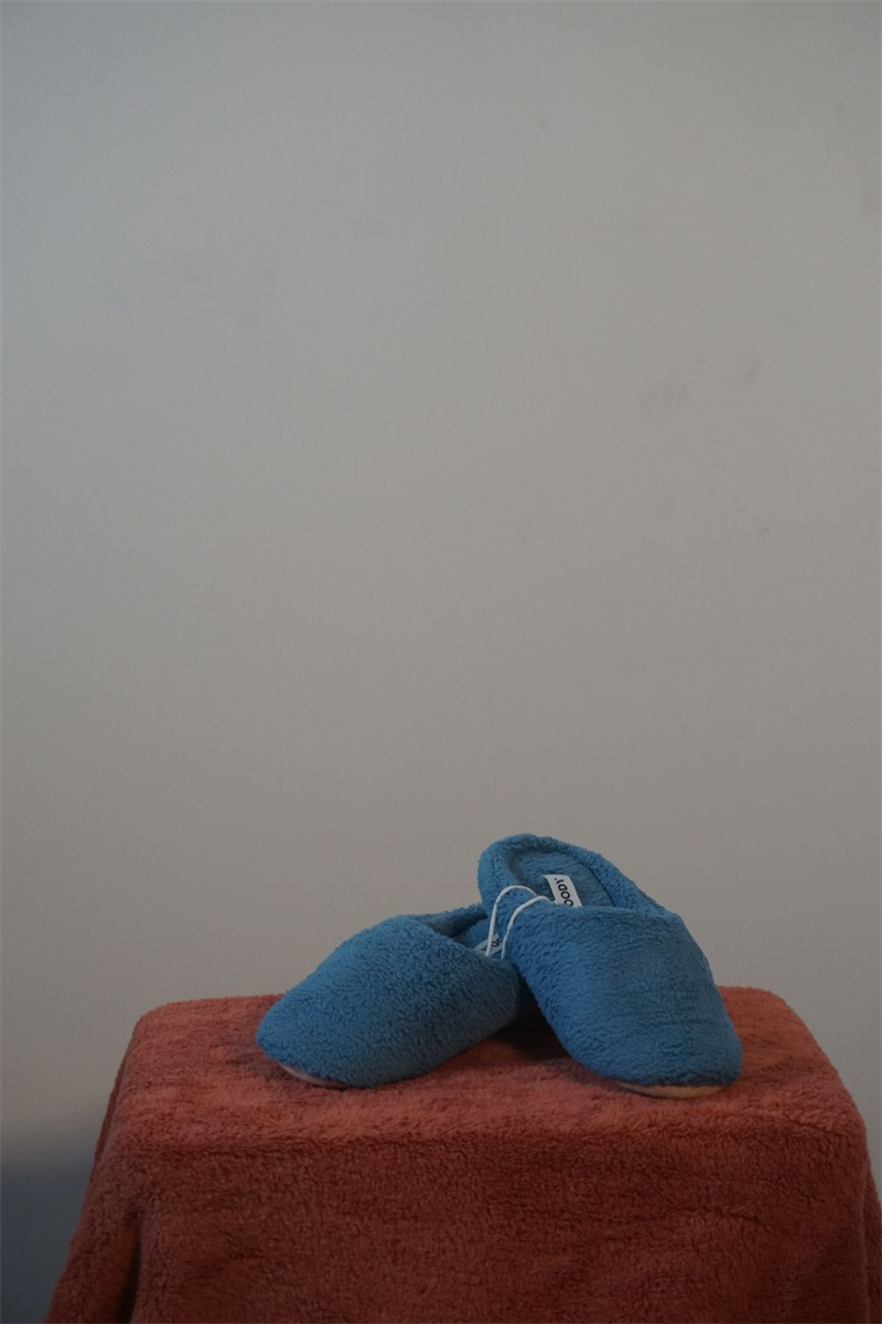 PANTOFFELS - WOODY - 202-1-WSC-C/845 - blauw