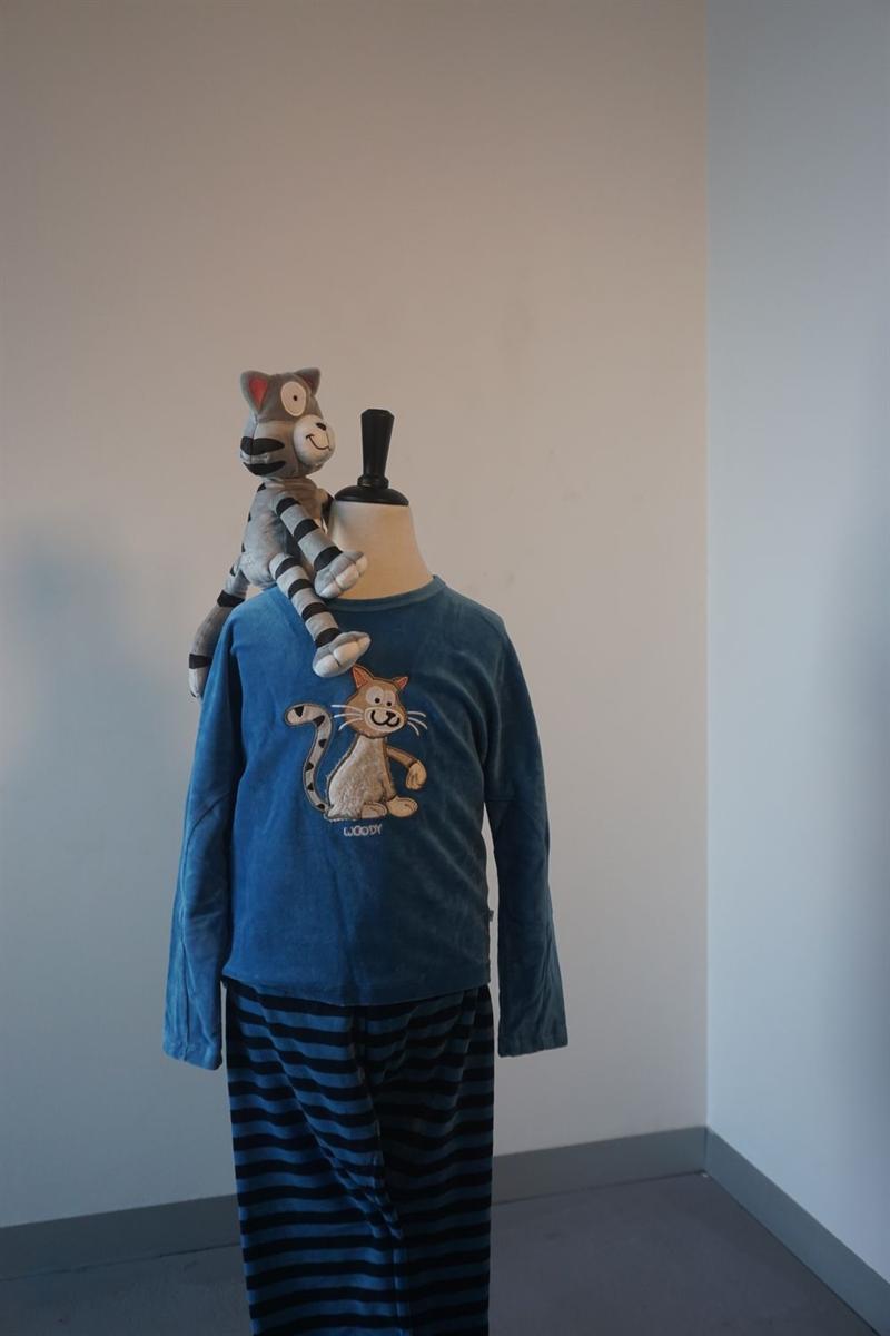 Pyjama meisjes - Woody - 202-1-PDV-V/845 - blauw