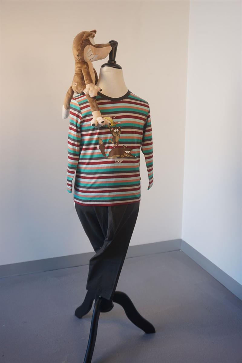 Pyjama jongens - Woody - 202-1-PLS-S/975 - multicolor gestreept