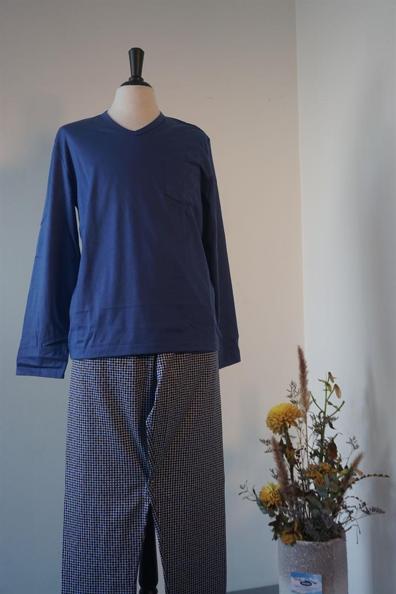Pyjama heren - Mey - 72581 - BLAUW