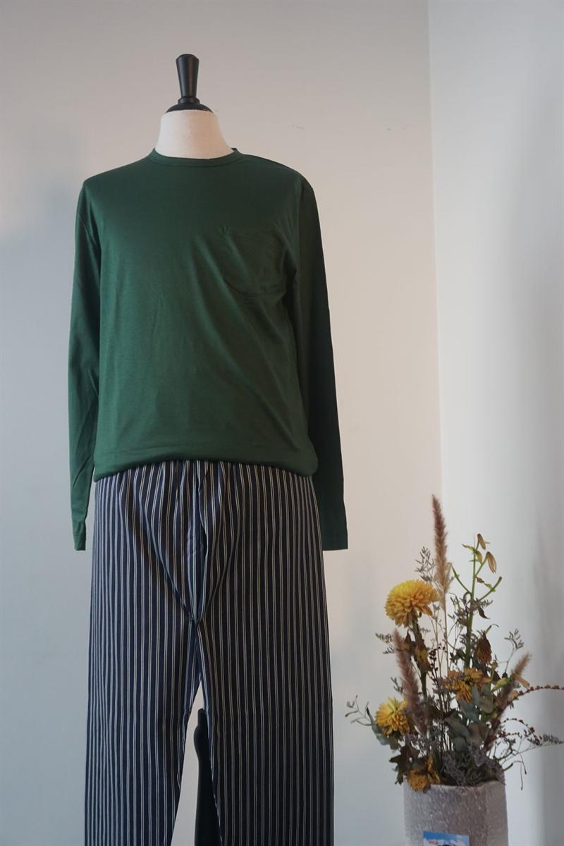Pyjama heren - Mey - 73080 - DGROEN