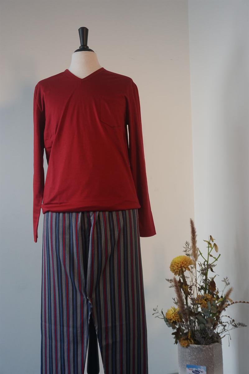 Pyjama heren - Mey - 73281 - ROOD