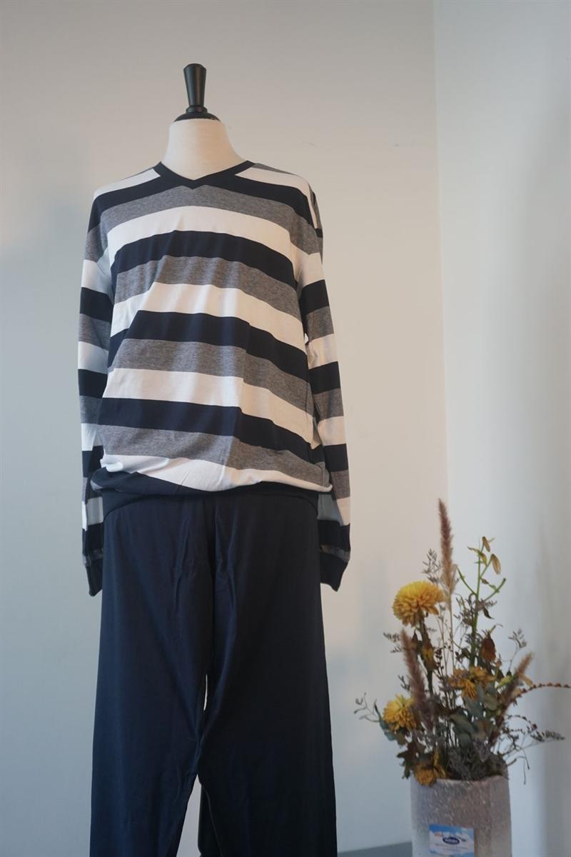Pyjama heren - Schiesser - 159623 - DONKERBLAUW