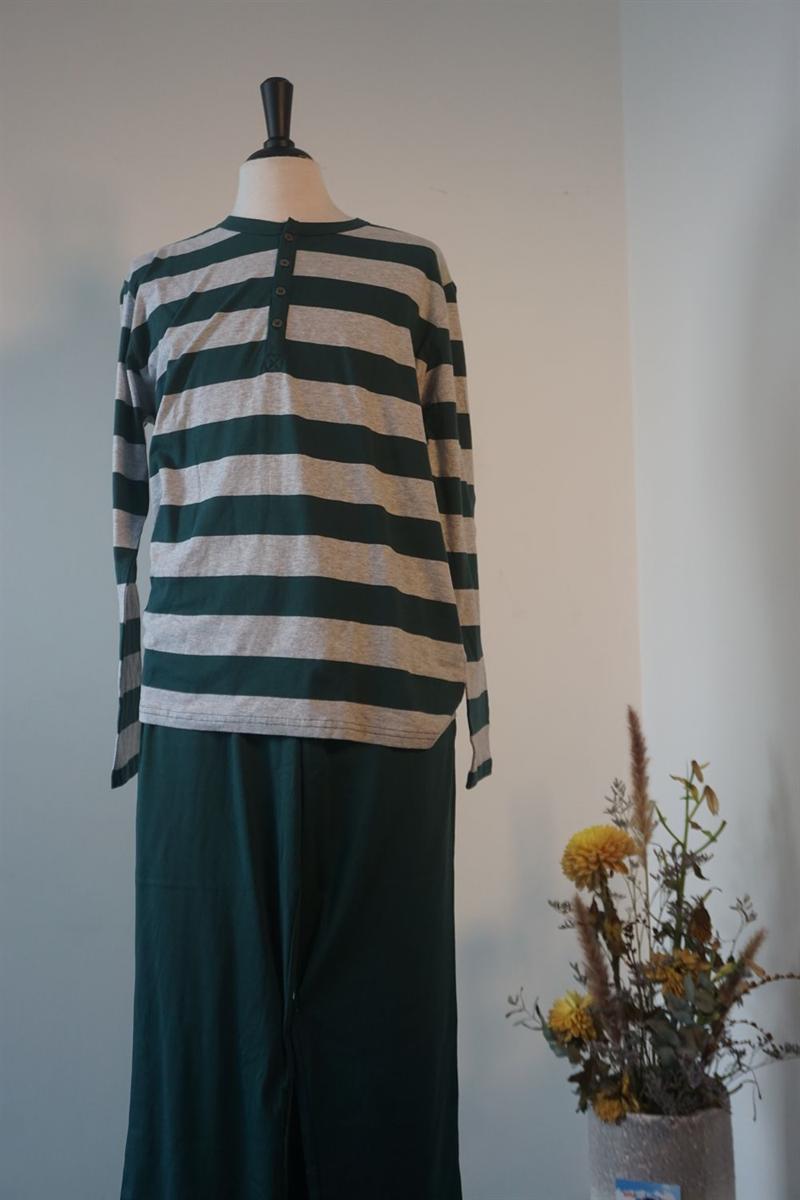 Pyjama heren - Schiesser - 159631 - DONKERGROEN