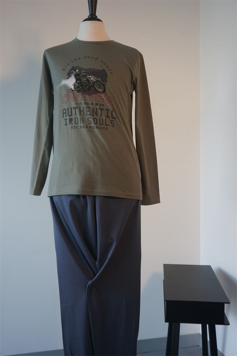 Pyjama jongens - Sanetta - 244255 - KAKI