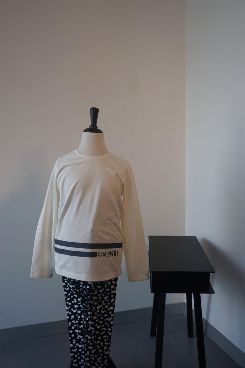 Pyjama meisjes - Sanetta - 244598 - WIT