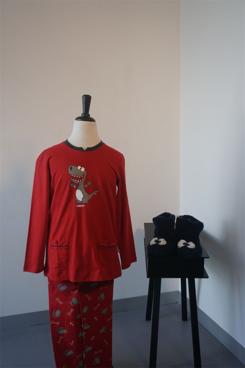 Pyjama meisjes - Woody - 182-1-BLD-S/481 - donkerrood