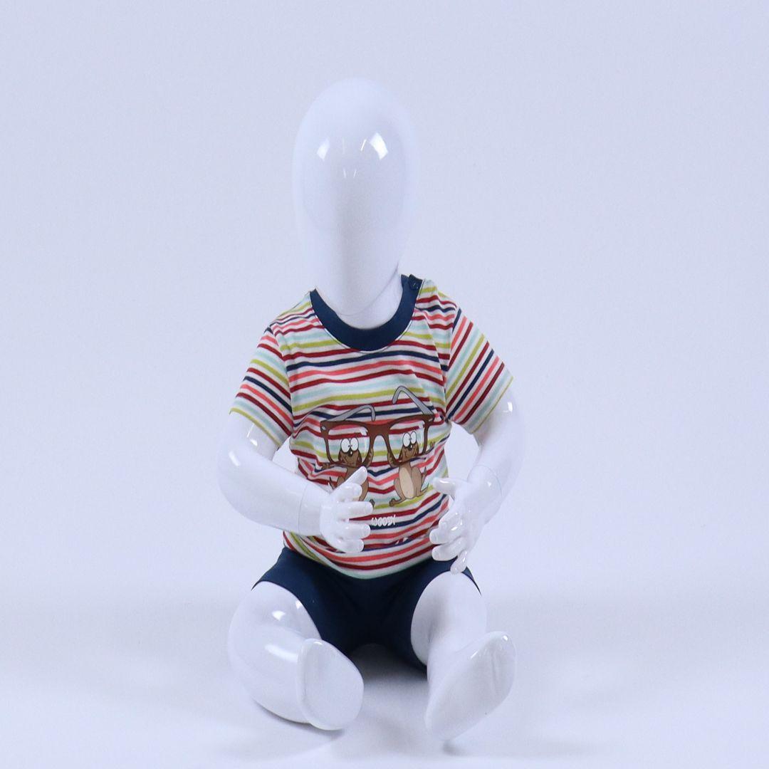 Pyjama baby - Woody - 191-3-PSS-S/946 - multicolor Stokstaartje gestreept