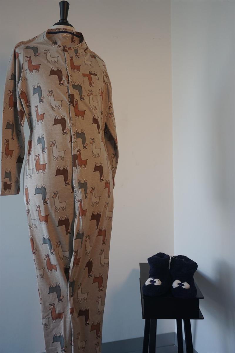 Onesie kids - Woody - 192-1-ONB-S/949 - beige alpaca all-over print