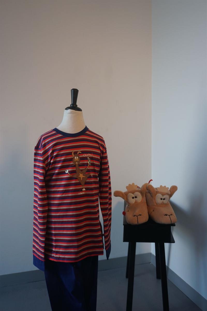 Pyjama jongens - Woody - 192-1-PLC-S/948 - rood-blauw gestreept