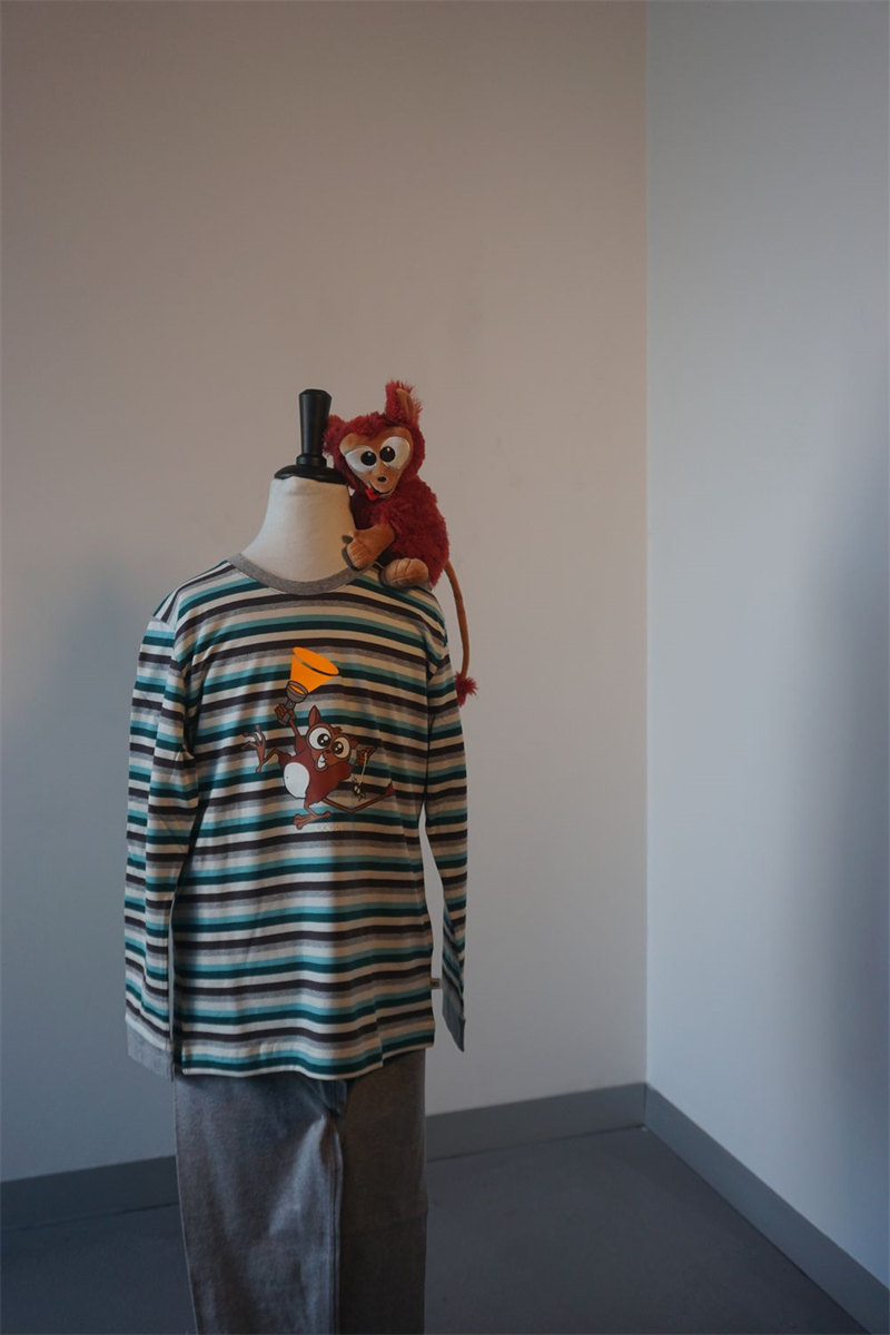 Pyjama jongens - Woody - 192-1-PLC-S/971 - petrol-grijsblauw gestreept