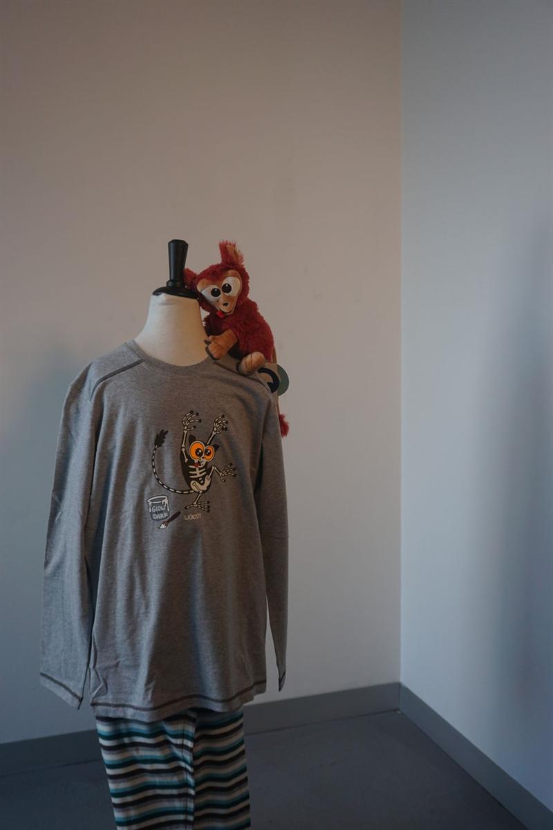 Pyjama jongens - Woody - 192-1-PUL-S/129 - grijs melange