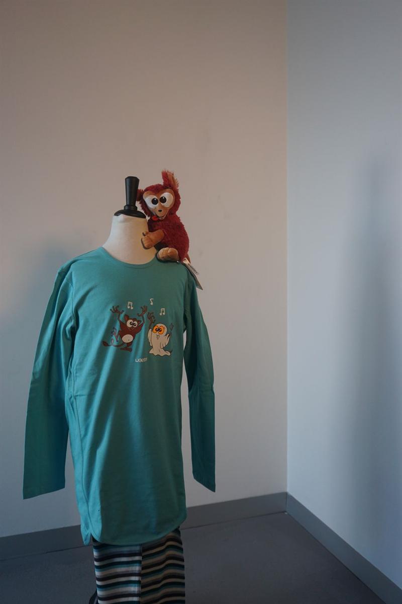 Pyjama jongens - Woody - 192-1-TUL-S/727 - ijsblauw