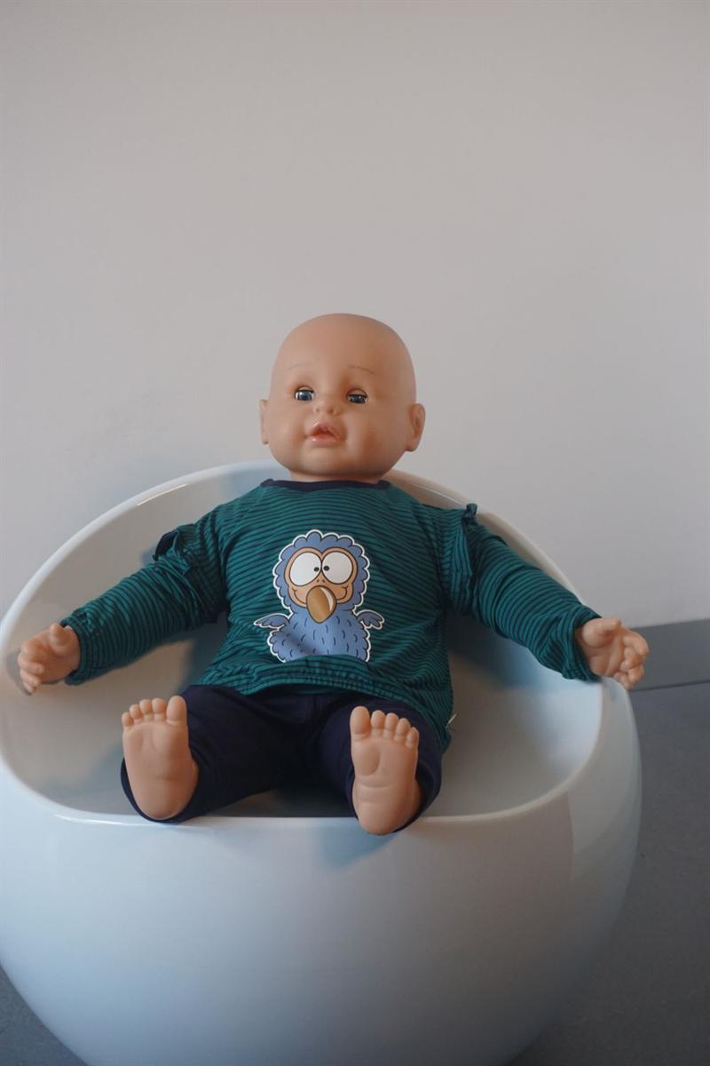 Pyjama baby - Woody - 192-3-PZG-Z/933 - donkerblauw-groen gestreept