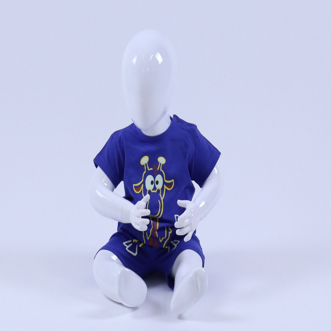 Pyjama baby - Woody - 201-3-PLE-Z/875 - koningsblauw