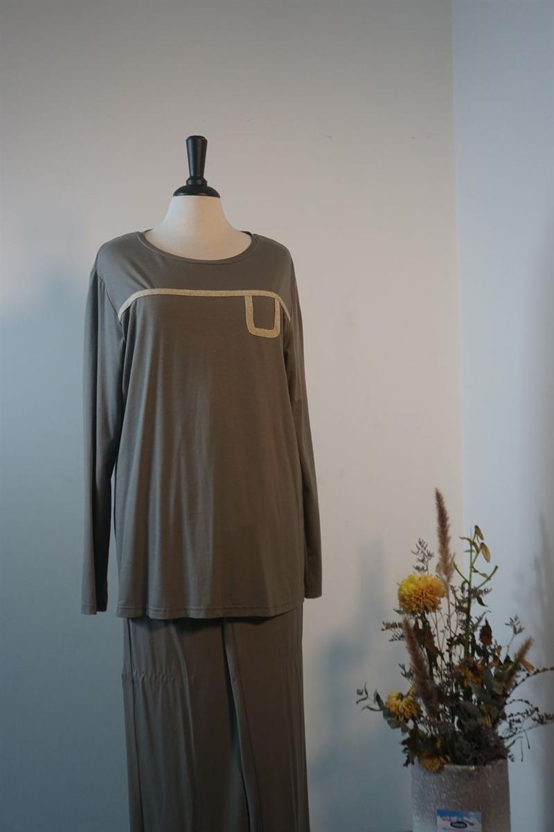 Pyjama dames - Canat - HOME - TAUPE