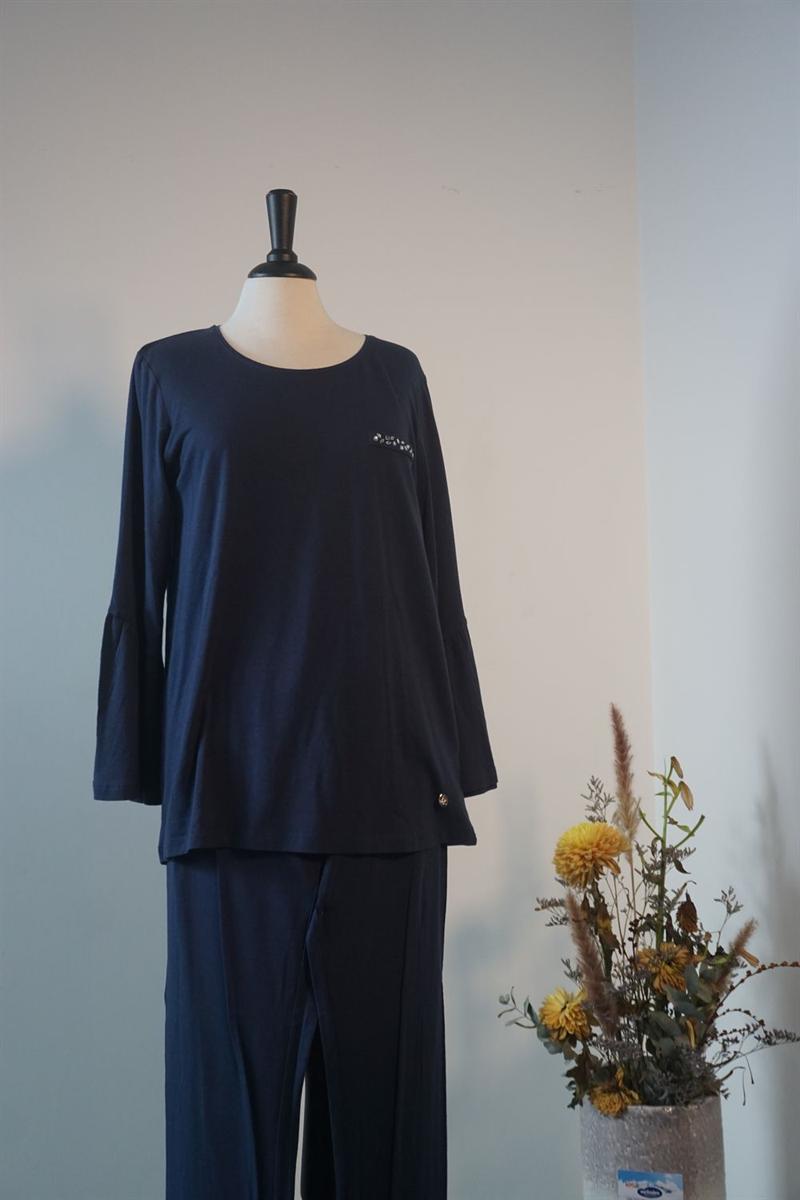 Pyjama dames - Lords x Lilies - 182-5-LPA-Z/895 - donkerblauw