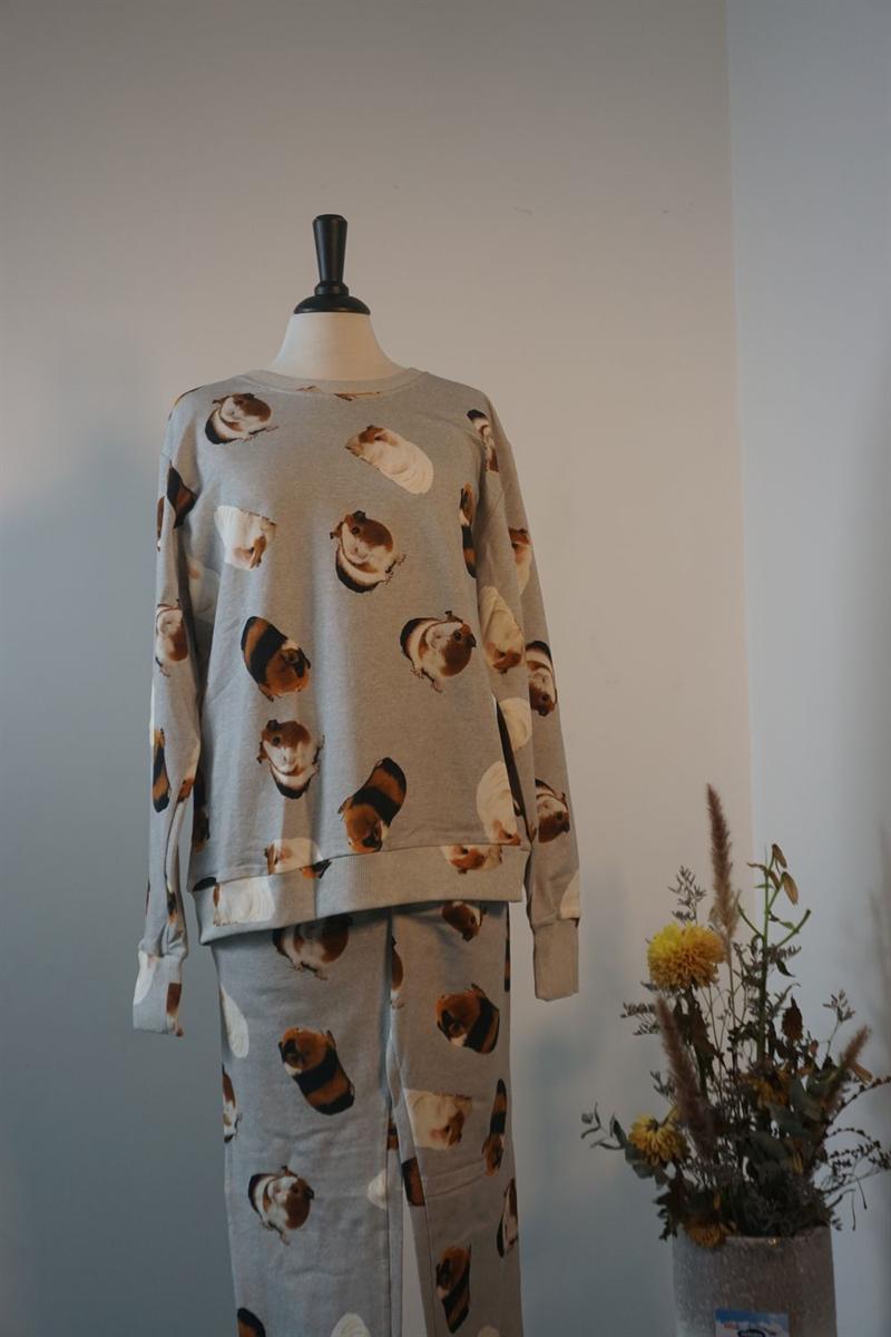 Pyjama dames - Snurk - CAVIA MANIA - LGRIJS