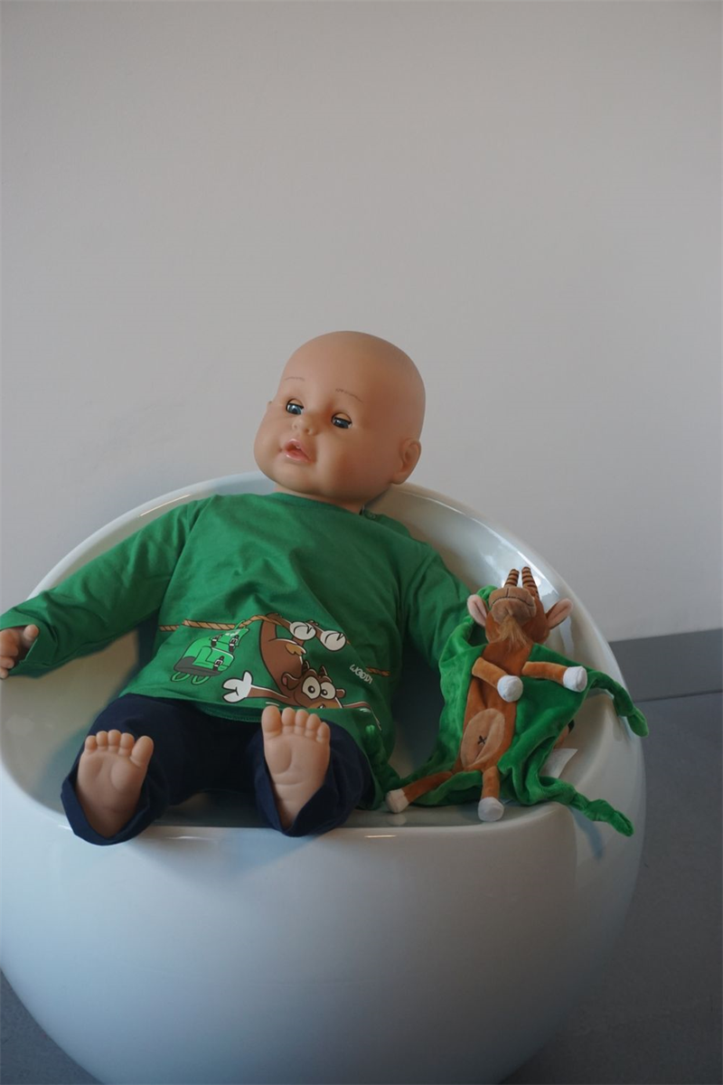 Pyjama baby - Woody - 202-3-PLU-S/735 - woudgroen