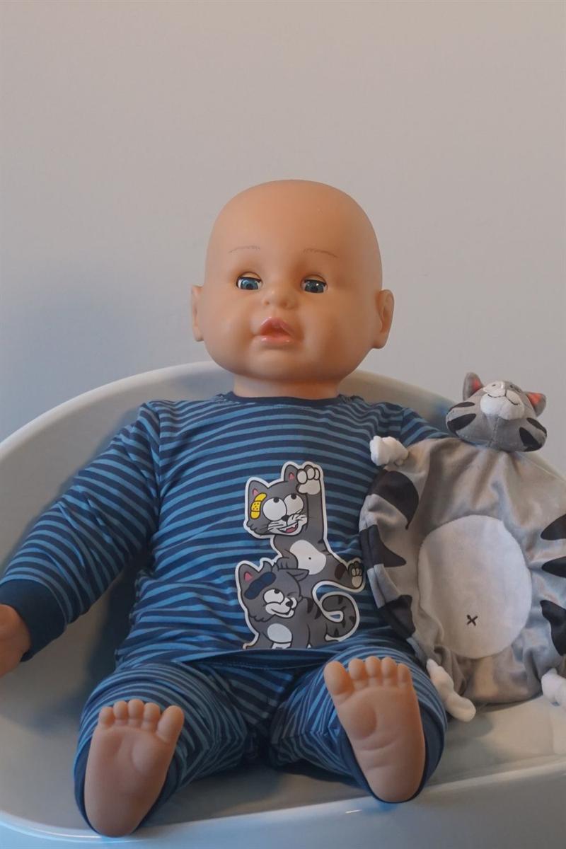 Pyjama baby - Woody - 202-3-PZL-Z/988 - donkerblauw-blauw gestreept