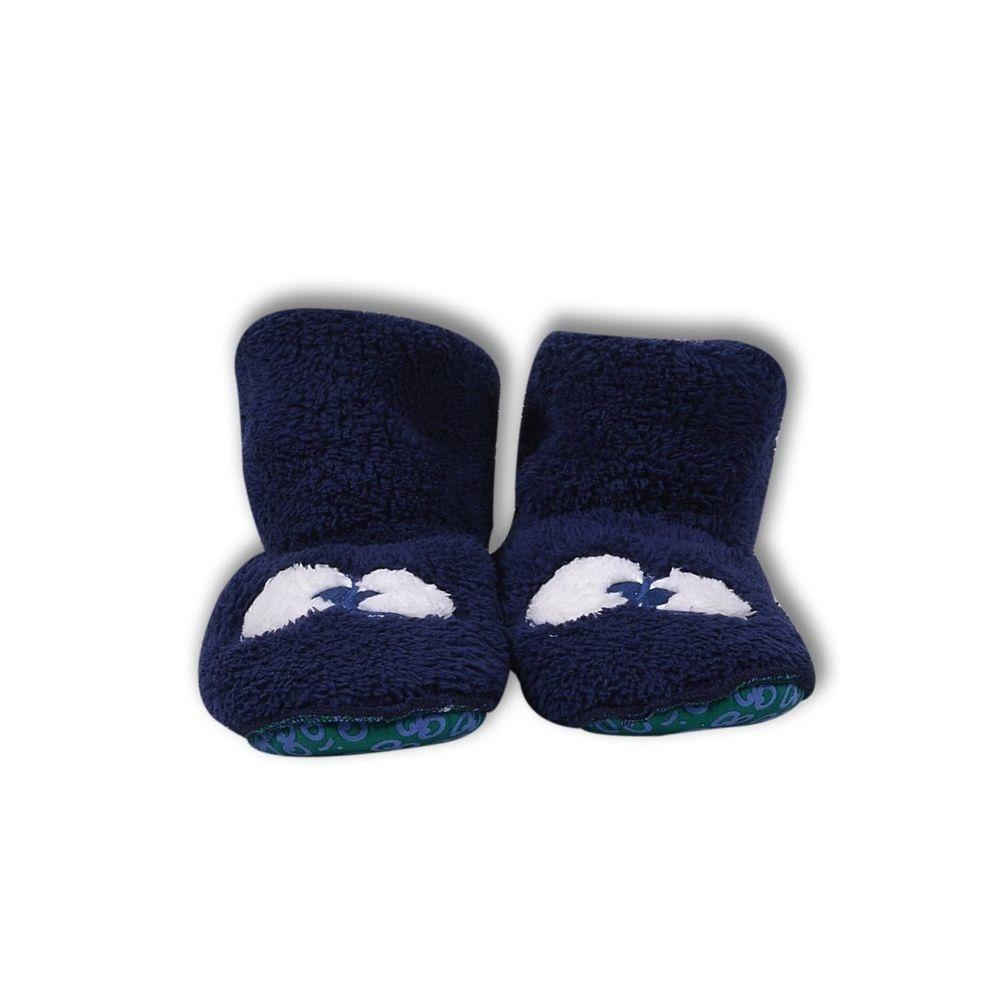 Pantoffel kids - WOODY - 192-1-BOR-M/839 - donkerblauw