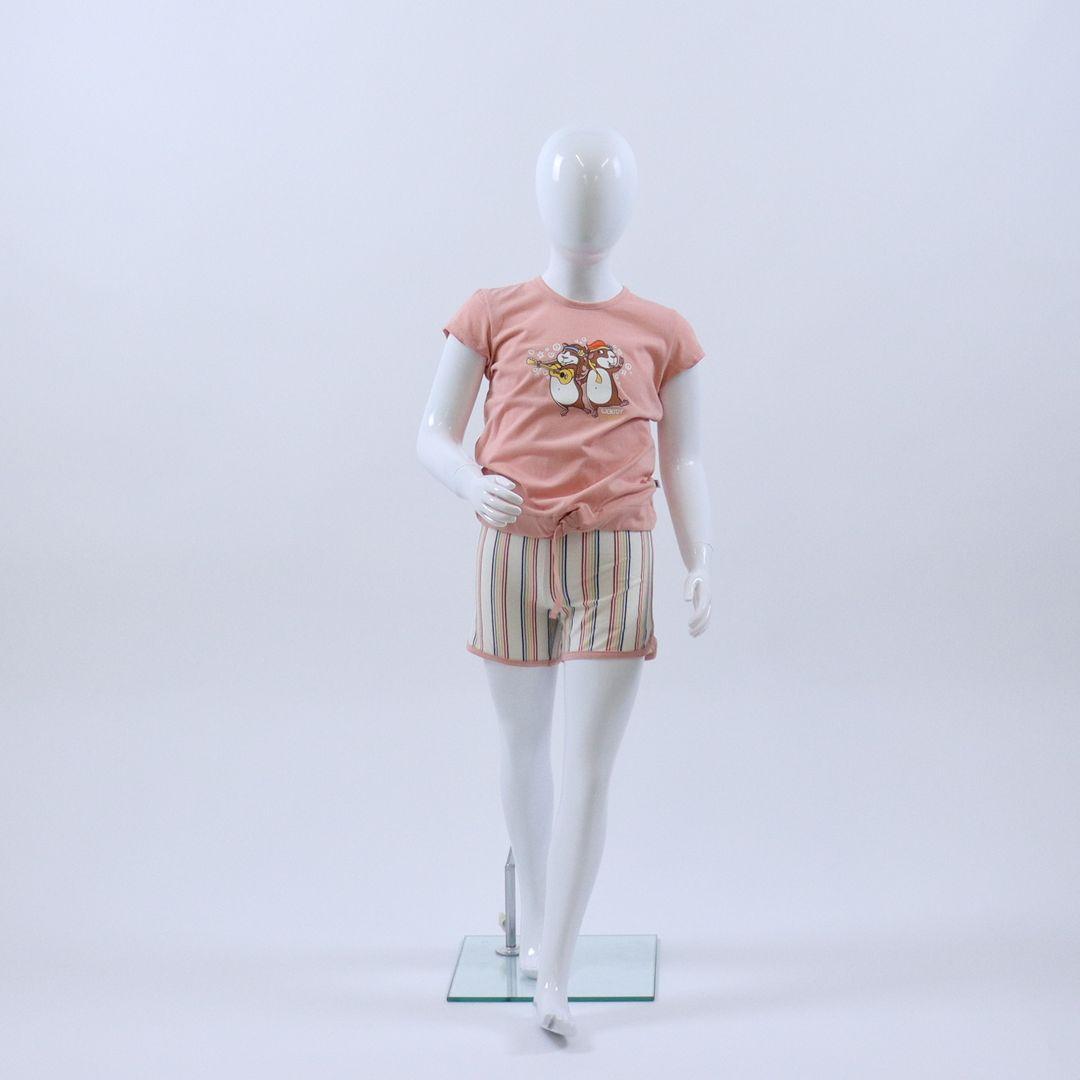 Pyjama meisjes - Woody - 211-1-BST-S/232 - LICHTROZE