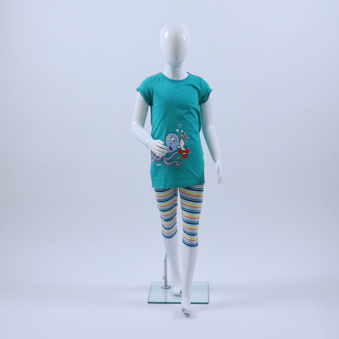 Pyjama meisjes - Woody - 211-1-POS-S/777 - GROEN
